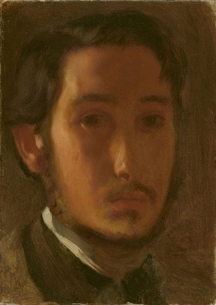 Degas, Edgar: Self-Portrait with White Collar. Fine Art Print/Poster. Sizes: A4/A3/A2/A1 (003964)